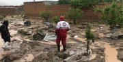 عملیات امداد و نجات جمعیت هلال احمر آذربایجان غربی در ۱۳ روستای درگیر سیل